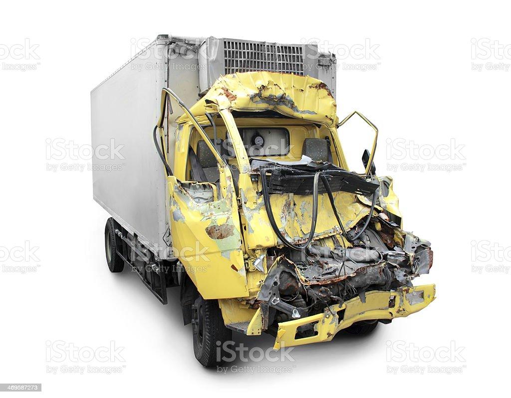 truck crash royalty-free stock photo