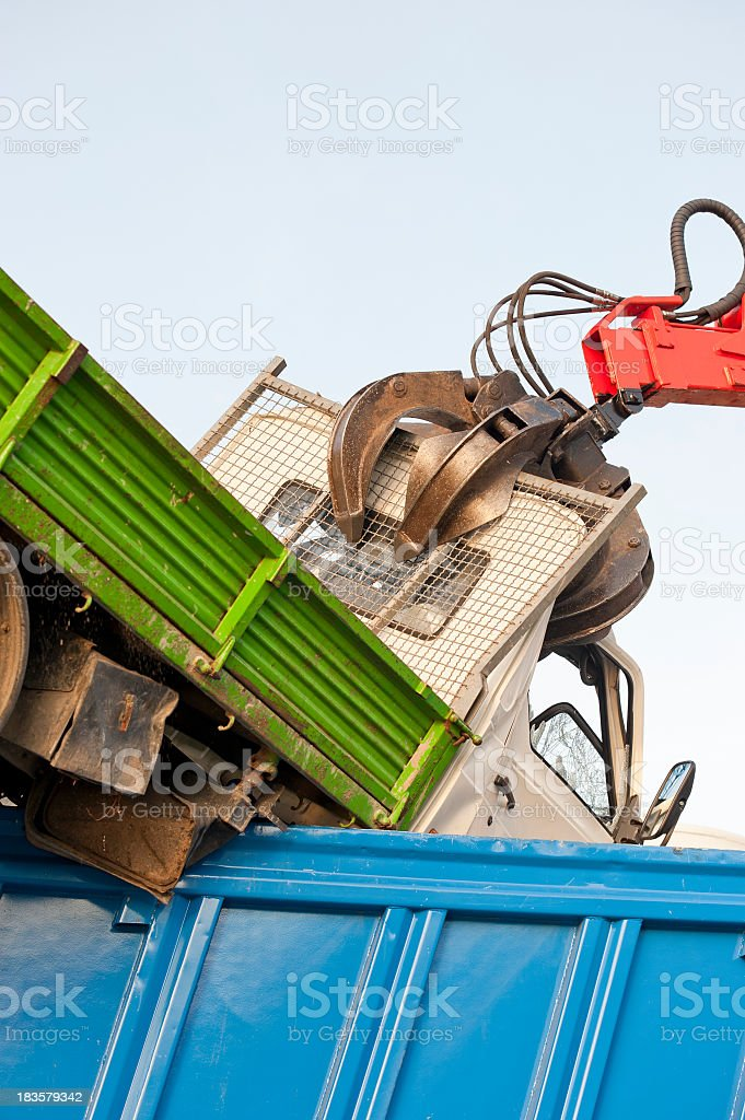 Truck Demolition royalty-free stock photo