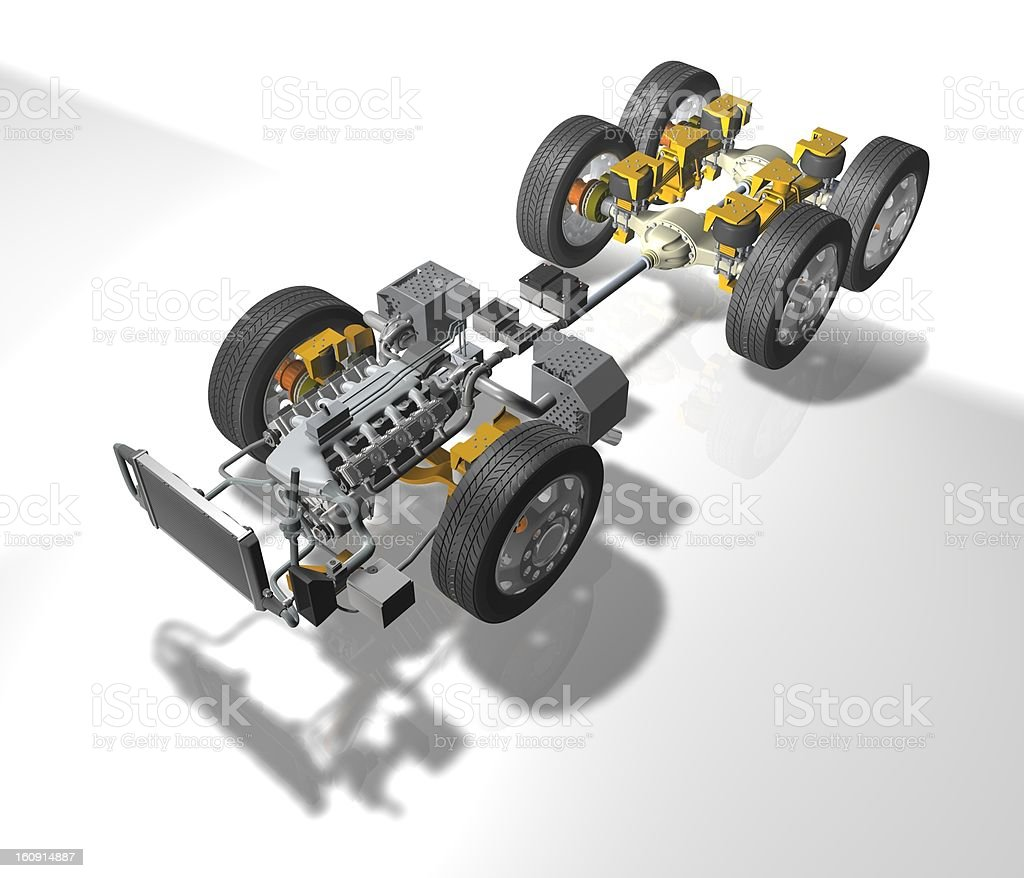 Truck Details royalty-free stock photo
