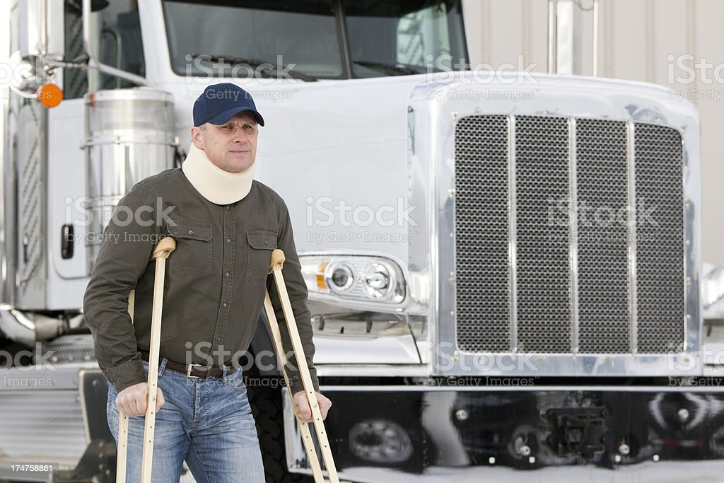 Truck Driver and Disablity royalty-free stock photo