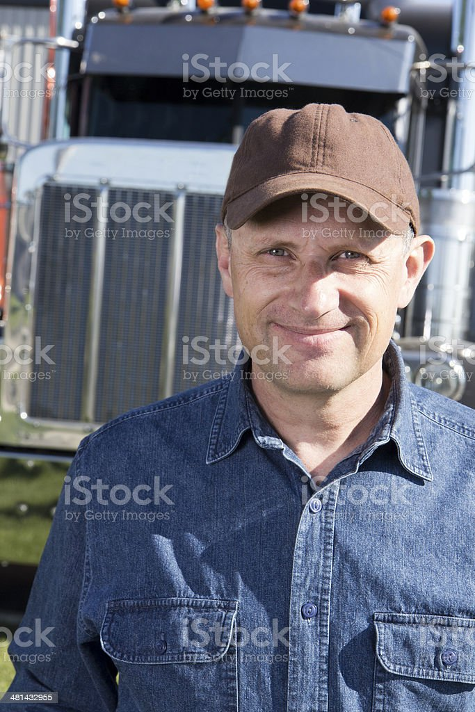 Truck Driver and Rig royalty-free stock photo