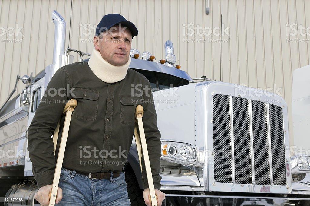 Truck Driver Injury royalty-free stock photo