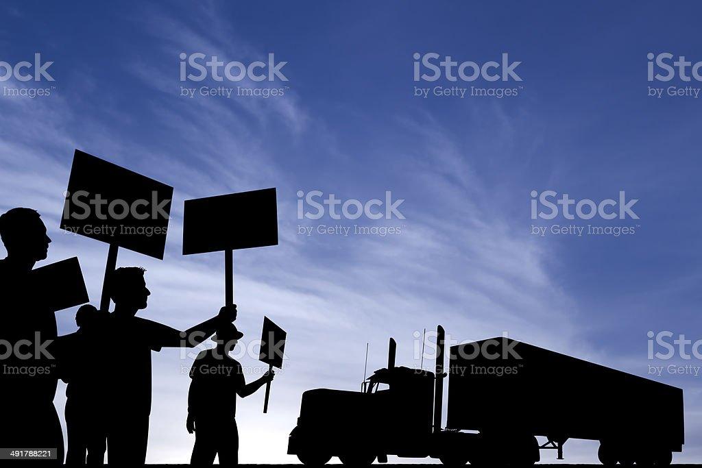 Truck Driver Strike! royalty-free stock photo