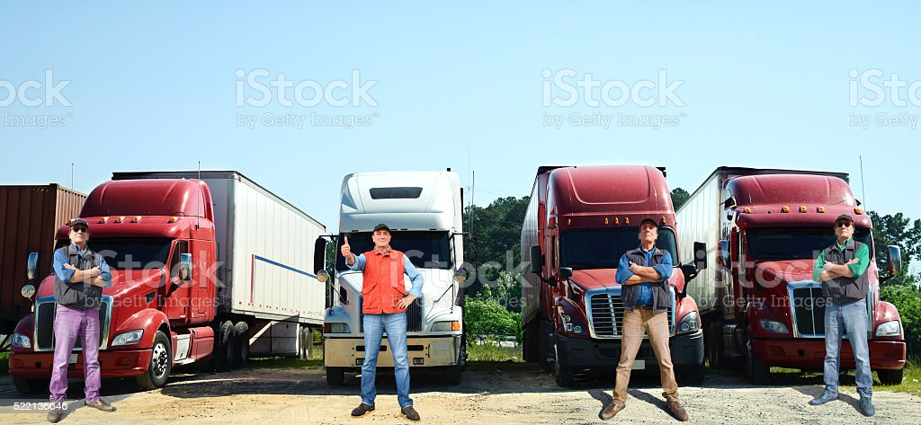 Truck drivers stock photo