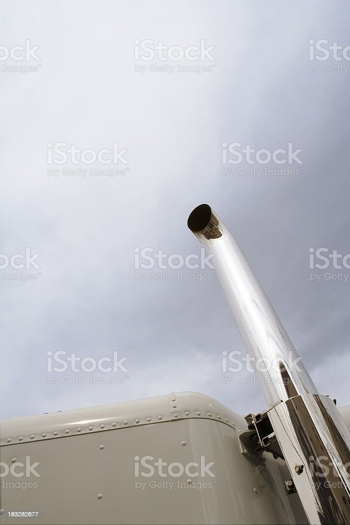 truck exhaust pipe stock photo