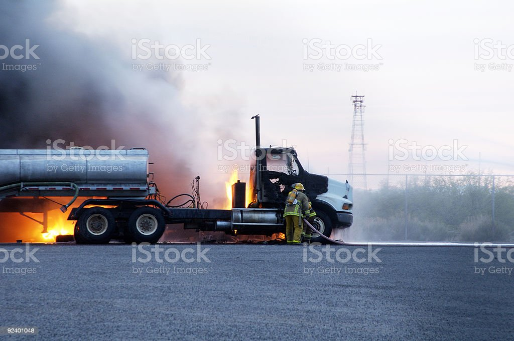 Truck Fire 1 royalty-free stock photo