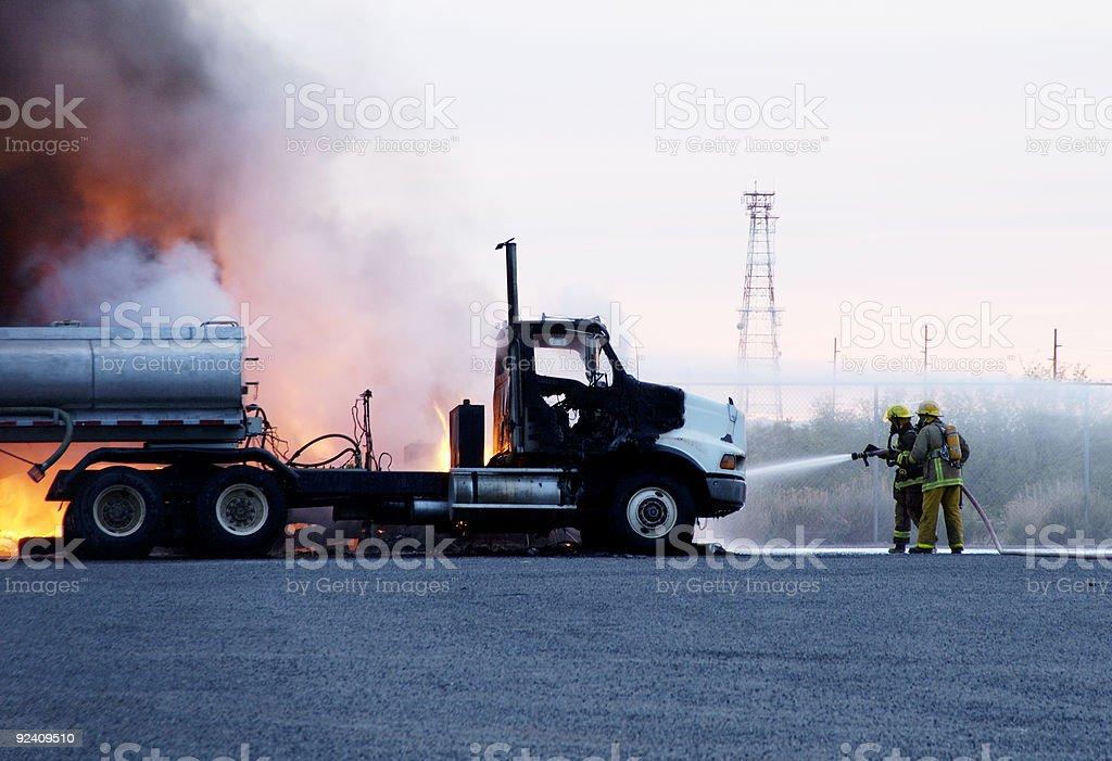Truck Fire 2 royalty-free stock photo