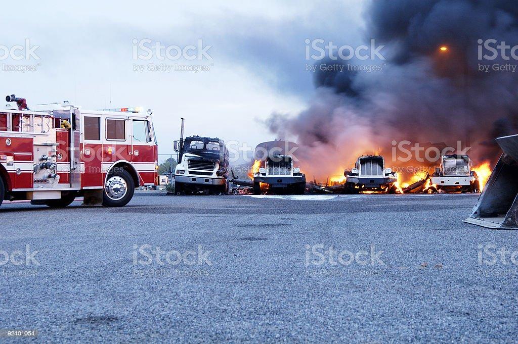 Truck Fire 5 stock photo