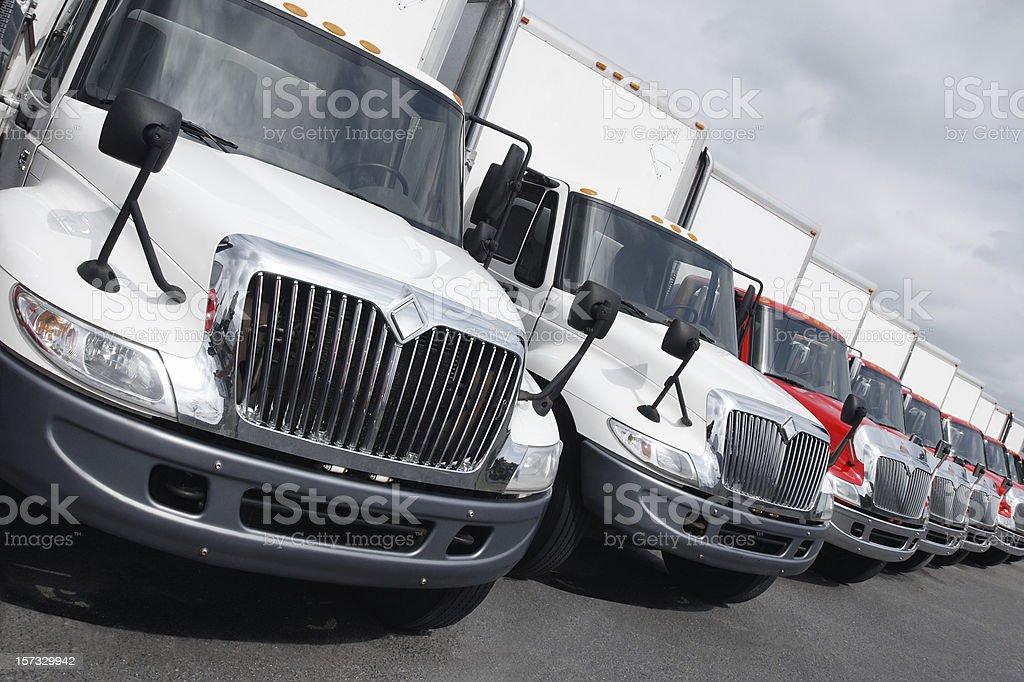 truck fleet stock photo