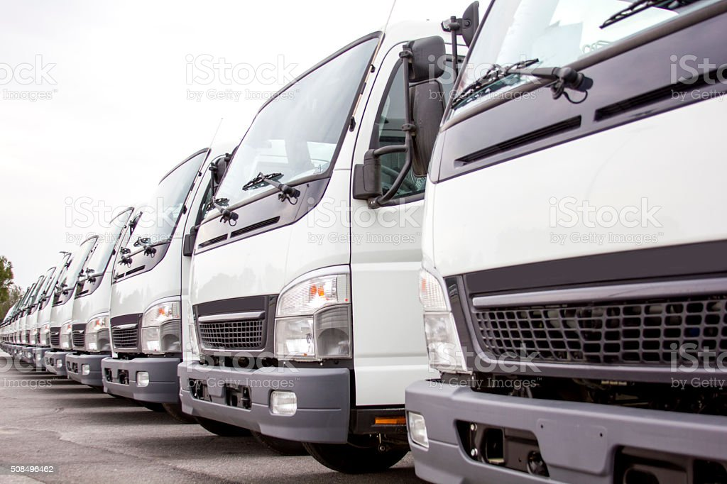 Truck Fleet stock photo