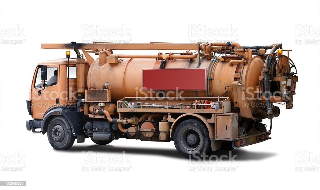 Truck for sewer cleaning stock photo