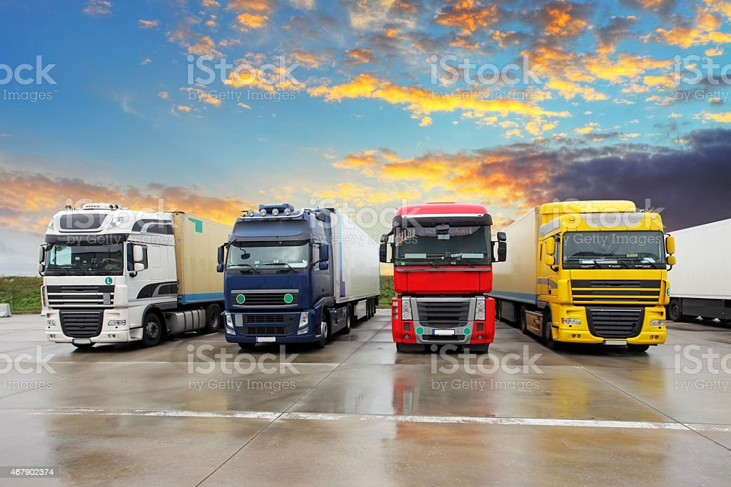 Truck - Freight transportation stock photo
