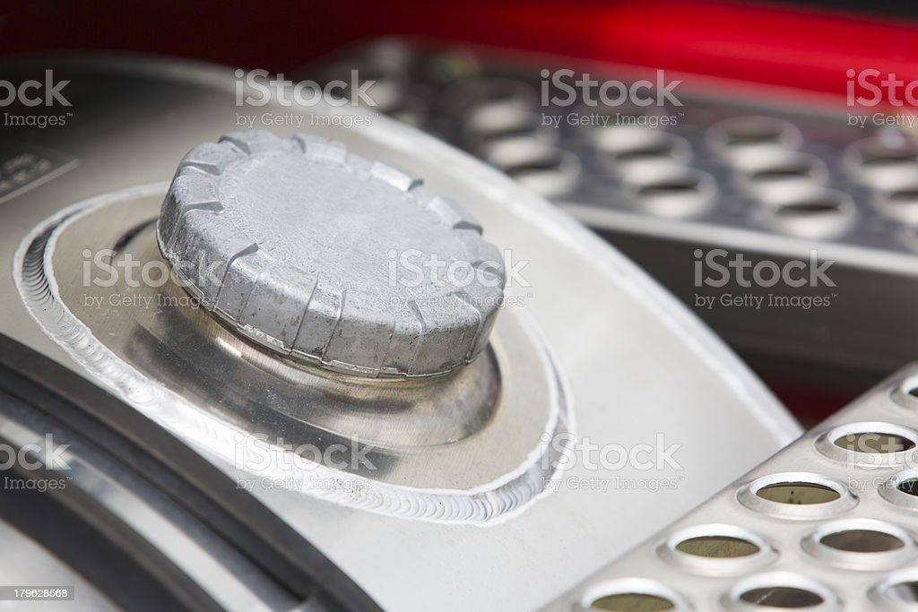 Truck Fuel Cap stock photo