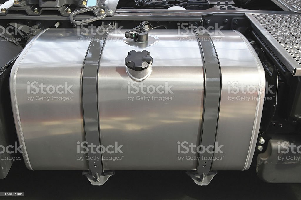 Truck fuel tank royalty-free stock photo