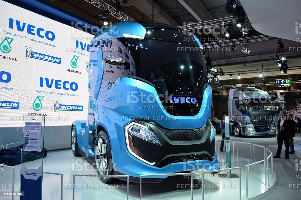 IVECO Z Truck futuristic vehicle on the motor show stock photo