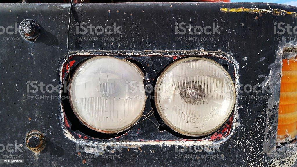 Truck Headlight stock photo