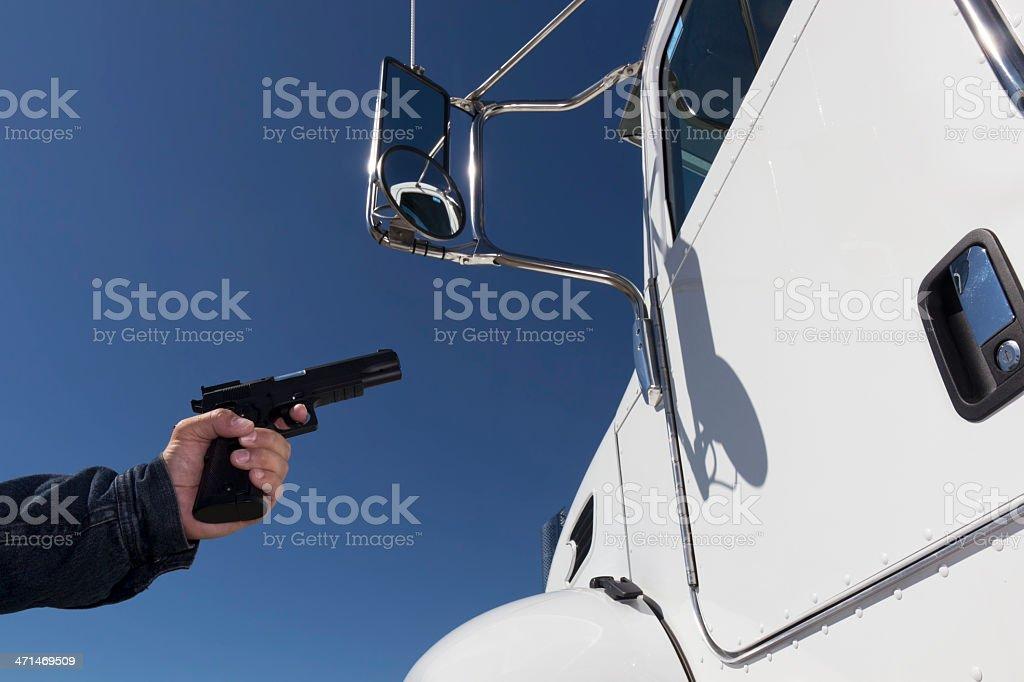 Truck Hijack royalty-free stock photo