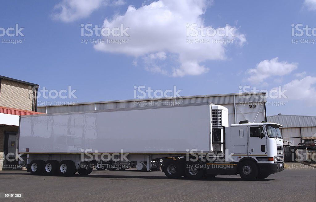 Truck horse and trailer royalty-free stock photo