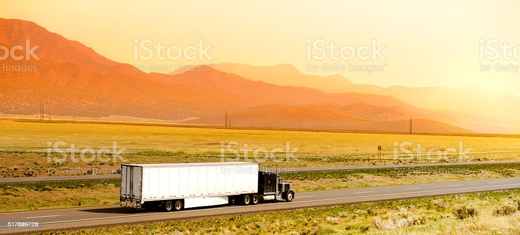 Truck in California stock photo