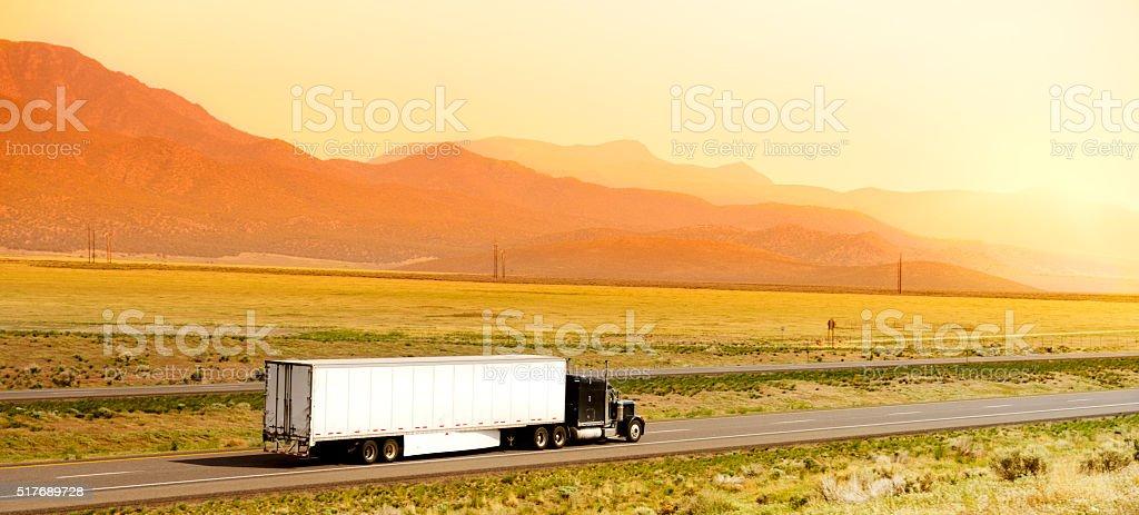 Truck in California stock photo