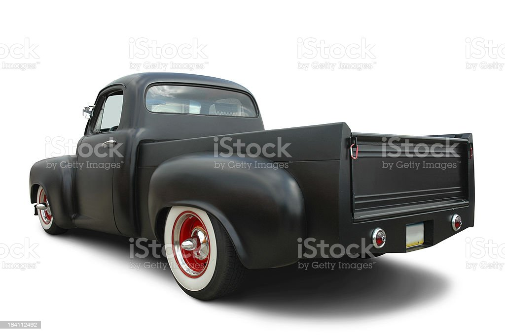 Truck in Satin Black stock photo