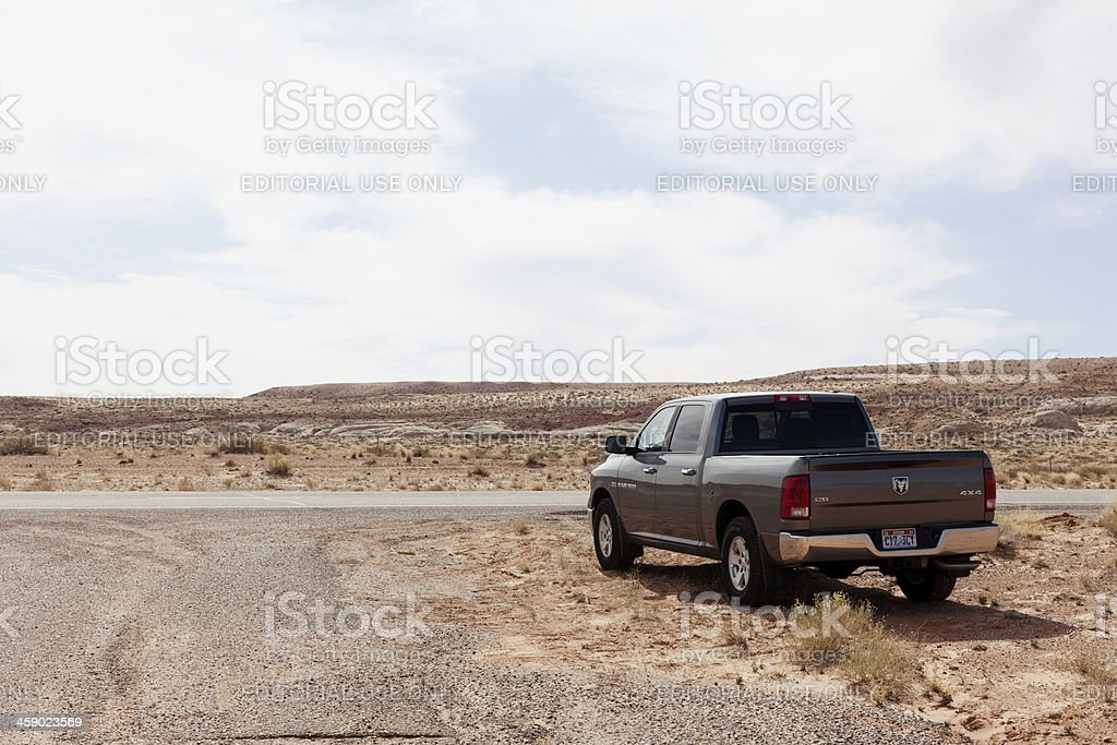 Truck in Southern Utah royalty-free stock photo