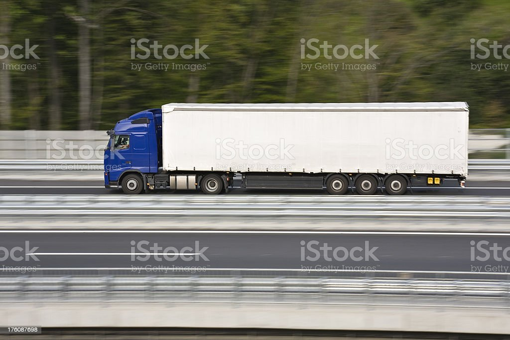 Truck in speed royalty-free stock photo