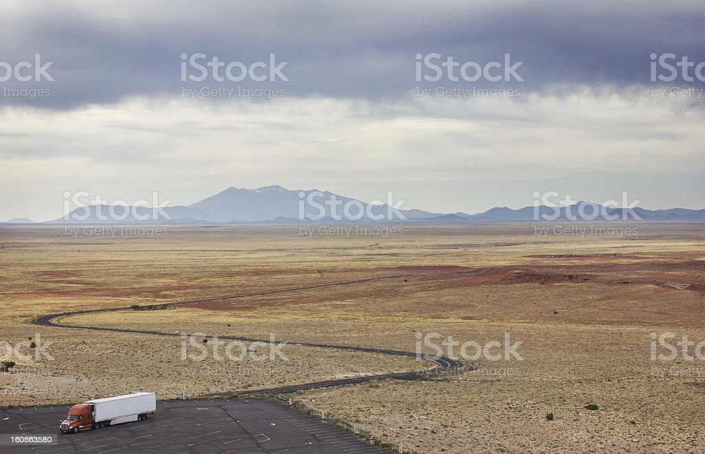 Truck in the Desert royalty-free stock photo