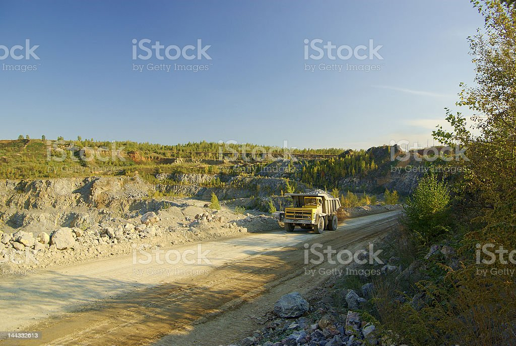 truck in the mine royalty-free stock photo