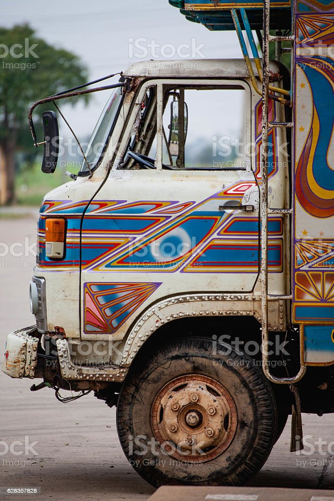 Truck in vintage style Thailand. stock photo