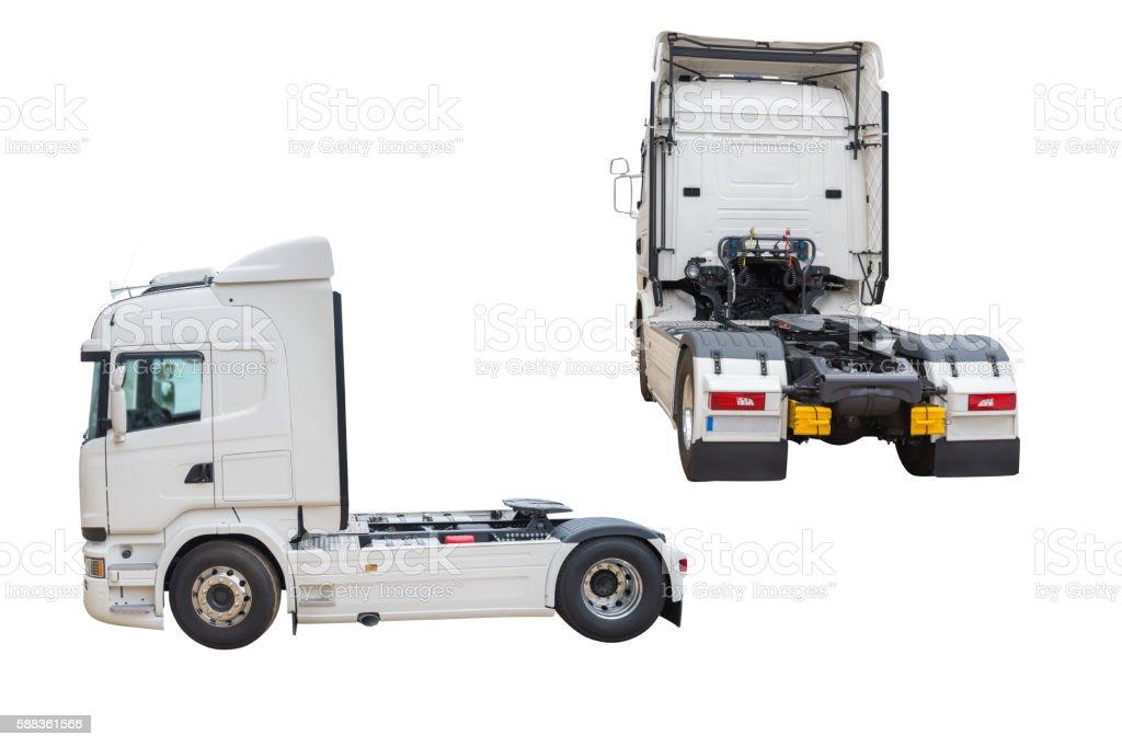 truck isolated on white background stock photo