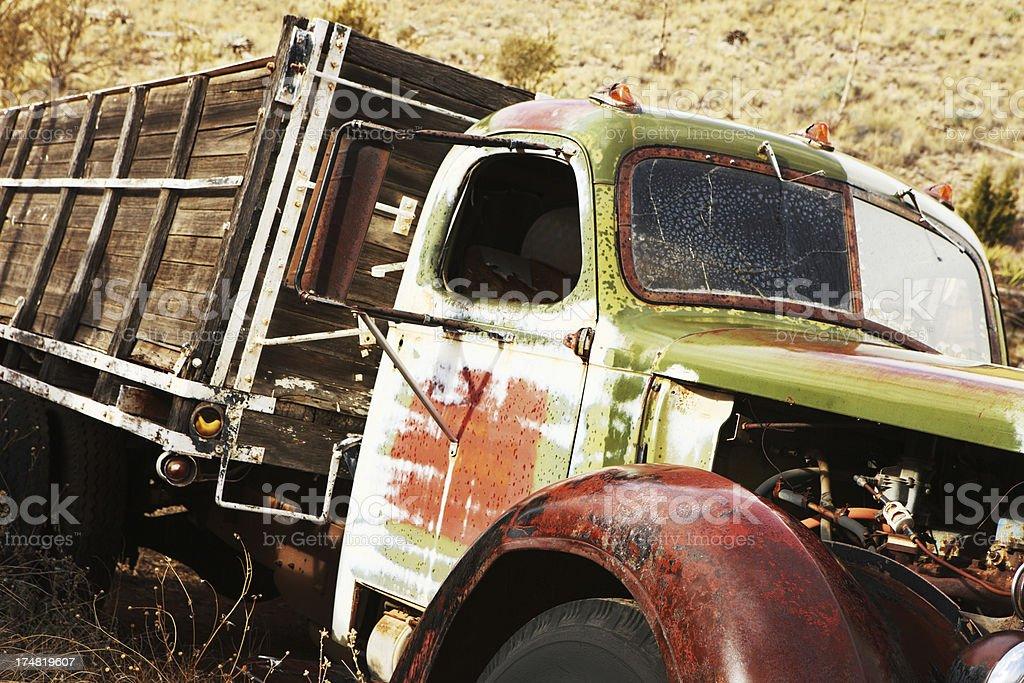 Truck Junkyard Rustbucket Vehicle royalty-free stock photo