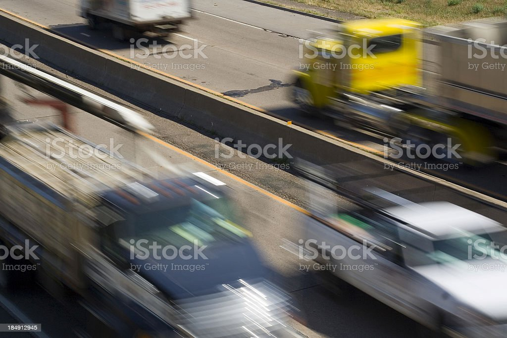 Truck Lanes royalty-free stock photo