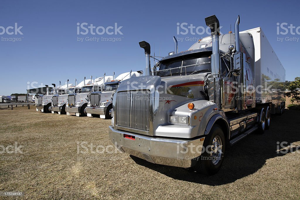 Truck Line Up stock photo