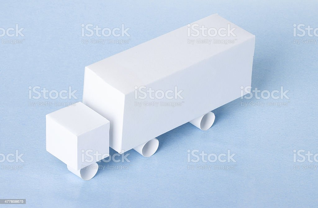 truck model made from paper royalty-free stock photo