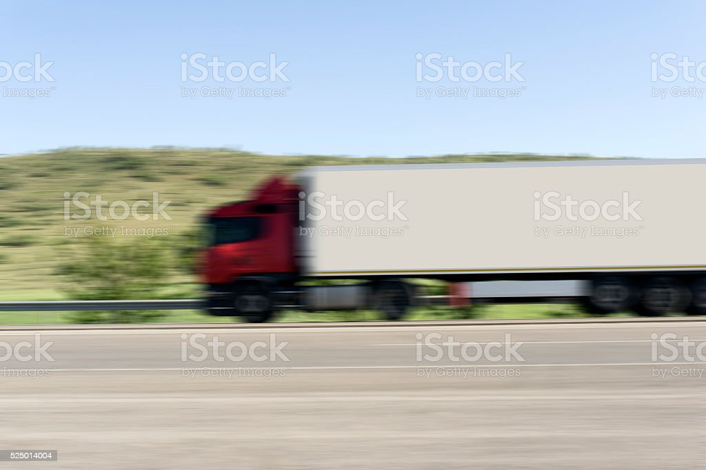 Truck Motion Blur stock photo