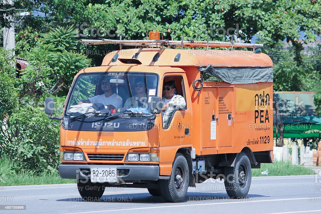 Truck of Emergency Service team stock photo