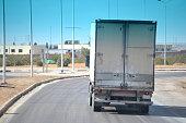 Truck on a road, logistics