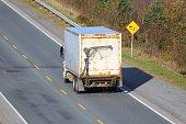 Truck on an interstate highway