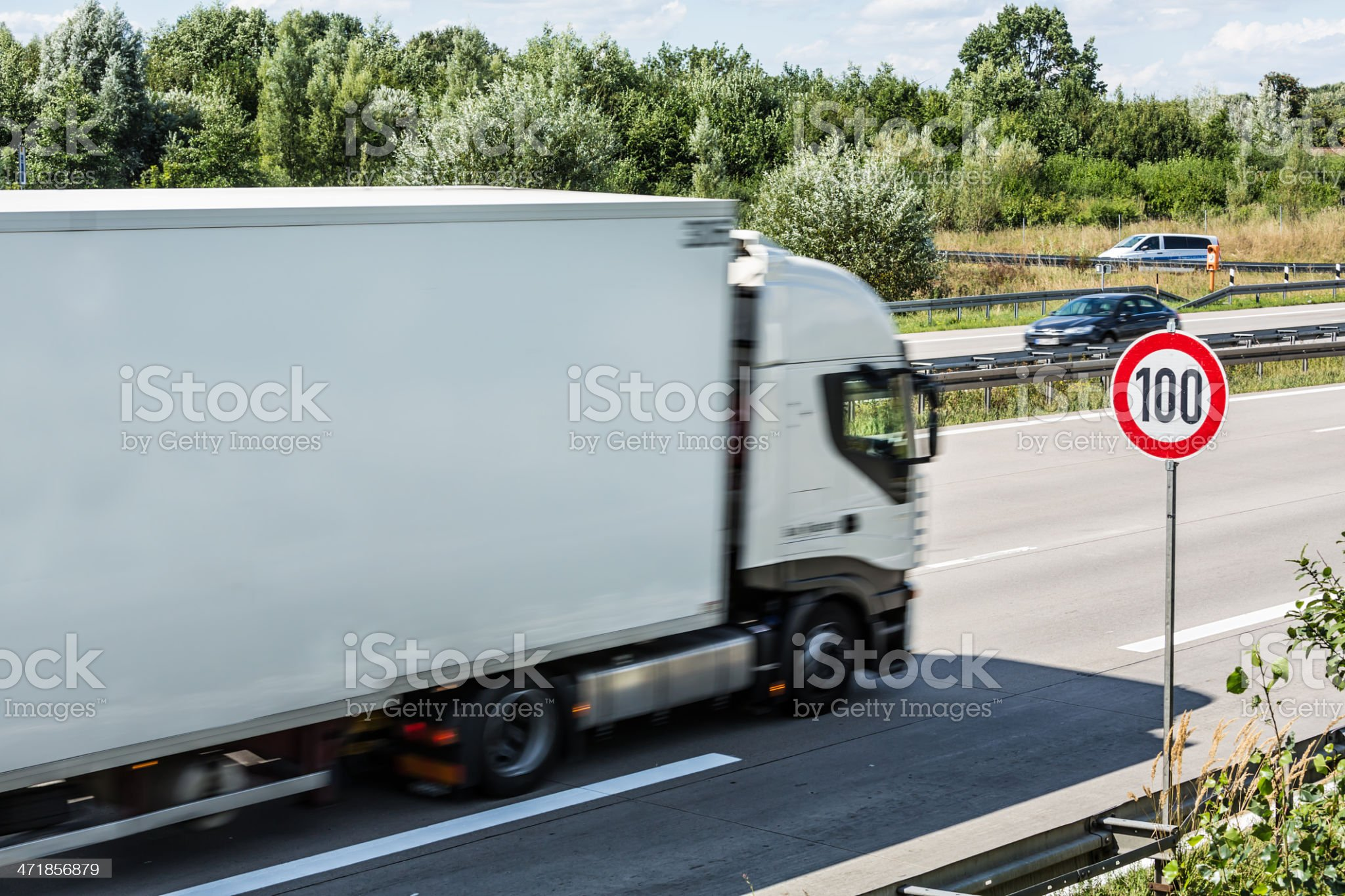 Truck on german Autobahn royalty-free stock photo