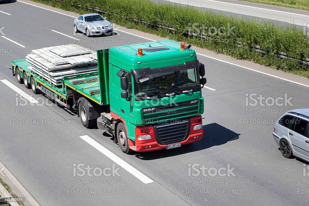 DAF truck on German highway royalty-free stock photo