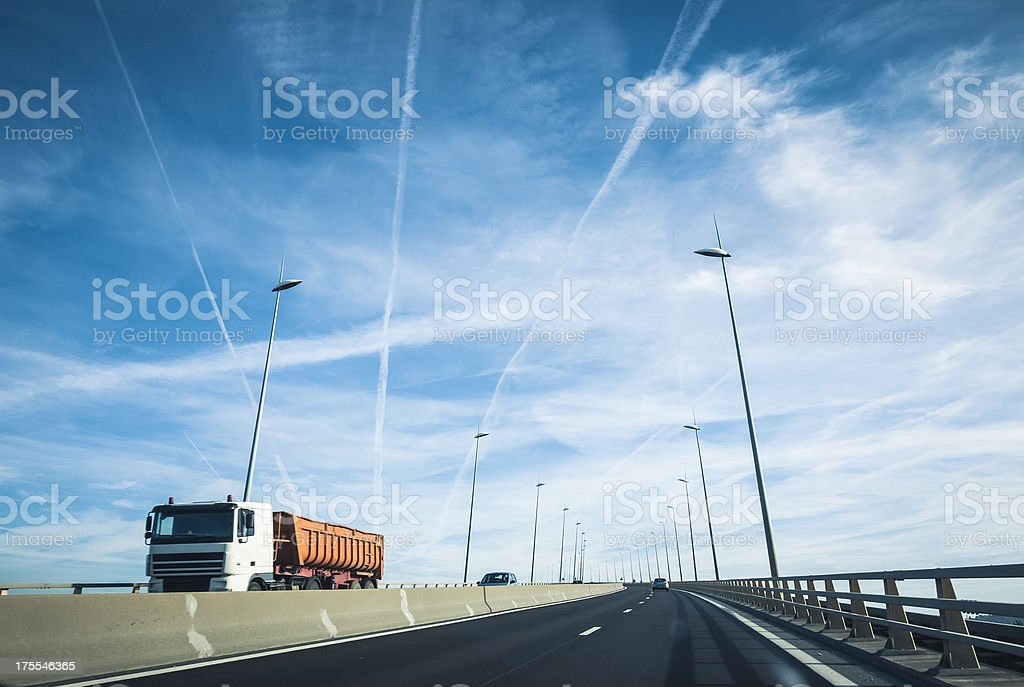 Truck on highway in France royalty-free stock photo