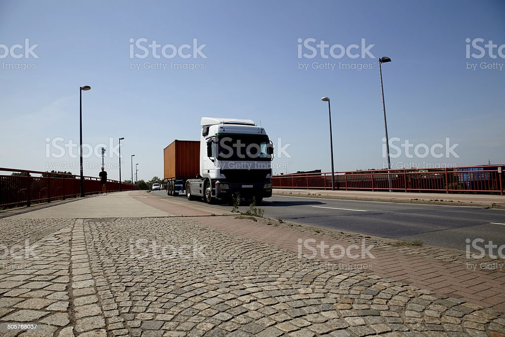 Truck on street royalty-free stock photo