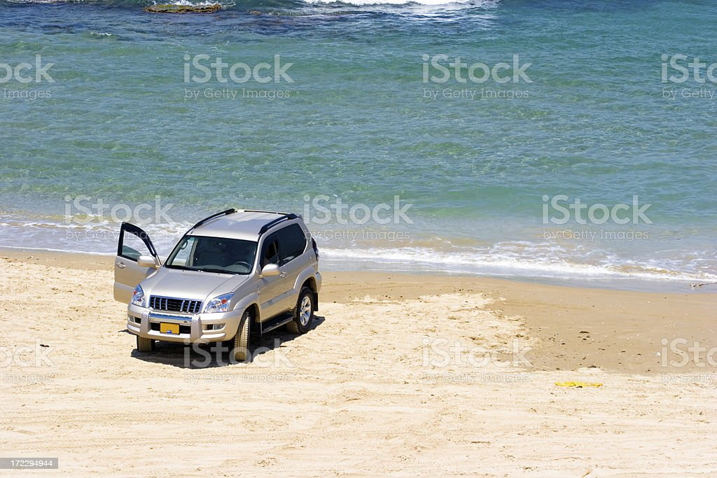 Truck on the Beach royalty-free stock photo
