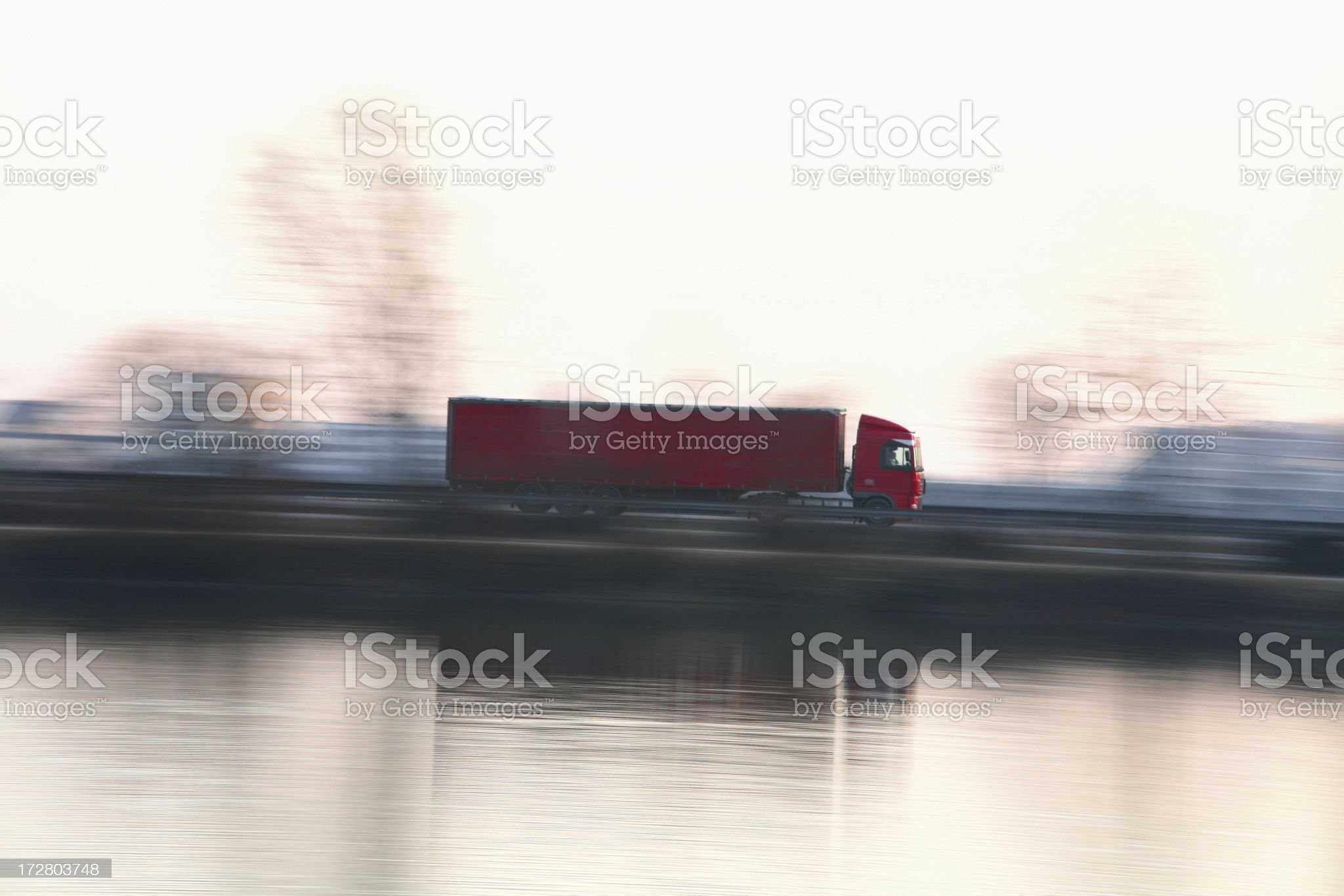 Truck on the move royalty-free stock photo