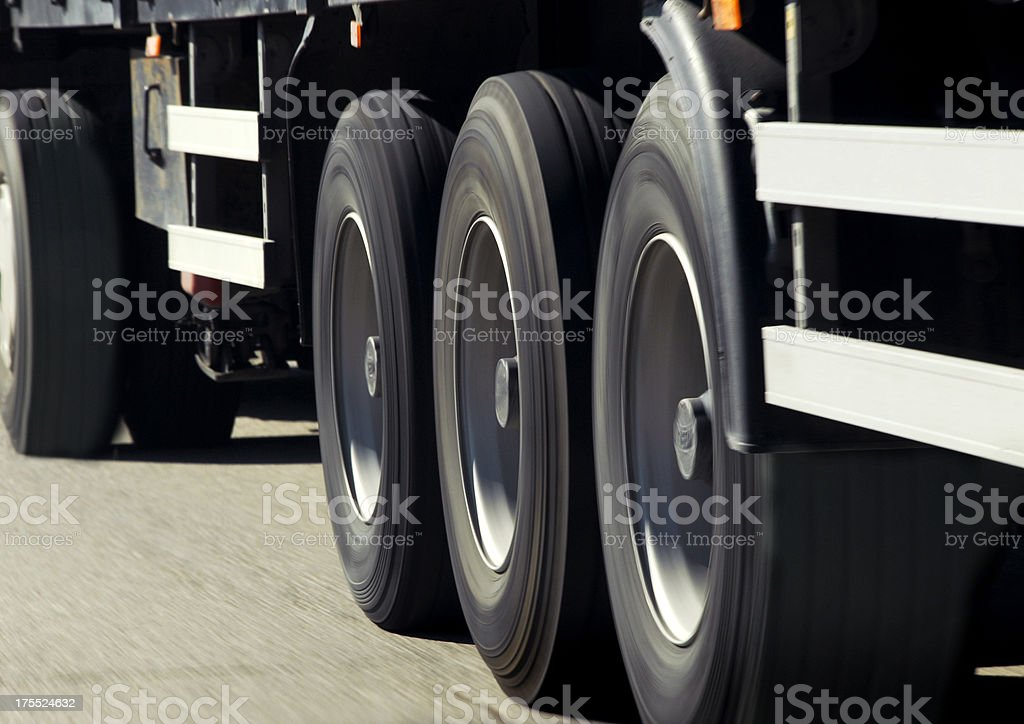 Truck On The Road (Click for more) royalty-free stock photo