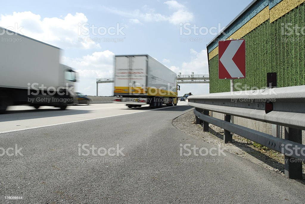 Truck on the rush royalty-free stock photo