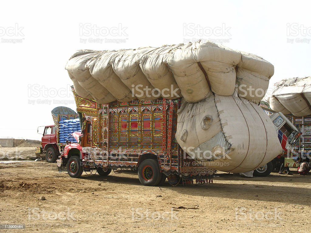 Truck Overload stock photo