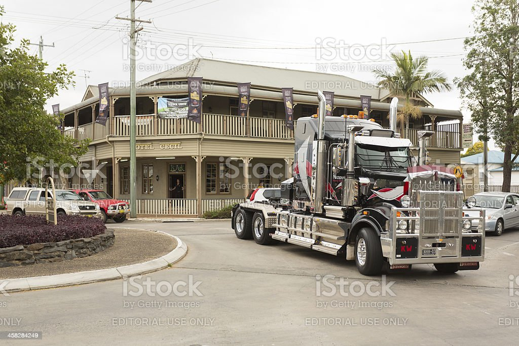 Truck Parade stock photo