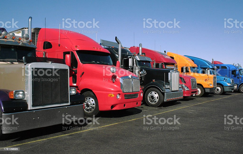 Truck Parking stock photo